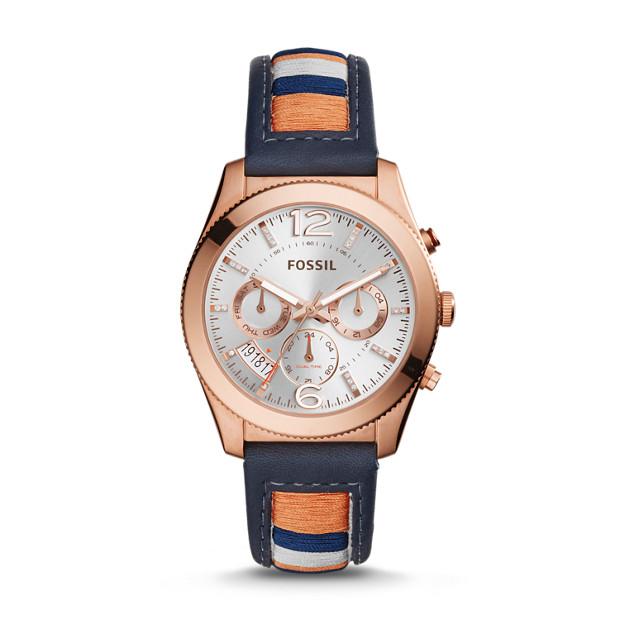 Perfect Boyfriend Multifunction Striped Leather Watch