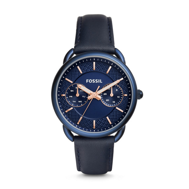 Fossil - Tailor Multifunction Blue Leather Watch - 1