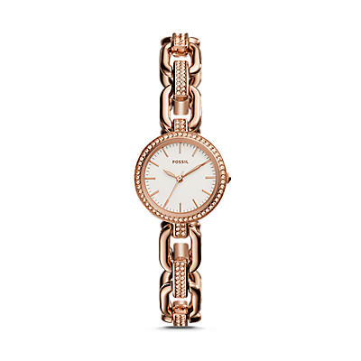 Kerstyn Three-Hand Rose-Gold-Tone Stainless Steel Watch