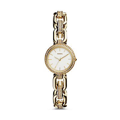 Kerstyn Three-Hand Gold-Tone Stainless Steel Watch