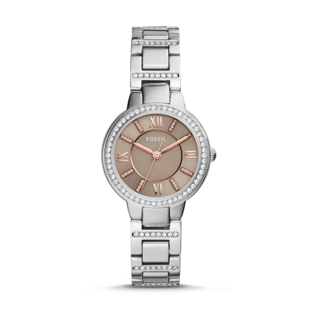 Fossil - Virginia Three-Hand Stainless Steel Watch - 1