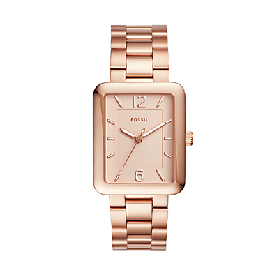 Atwater Three-Hand Rose Gold-Tone Stainless Steel Watch