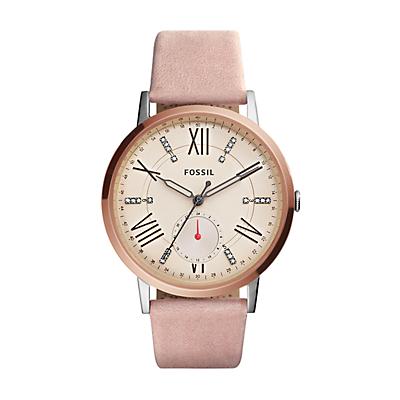 Gazer Multifunction Blush Leather Watch