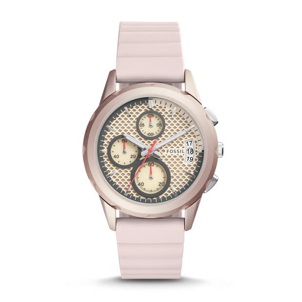 Damenuhr Modern Pursuit Sport Chronograph Silikon Rosa Fossil