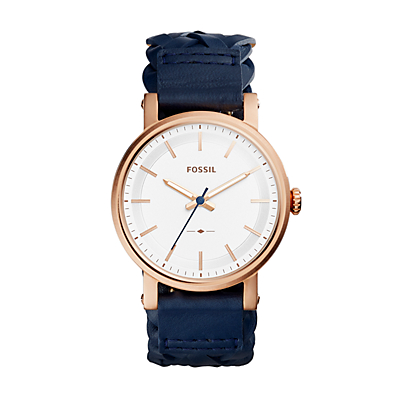 Original Boyfriend Sport Three-Hand Navy Leather Watch
