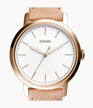 Neely Three-Hand Sand Leather Watch