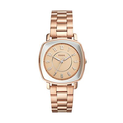 Idealist Three-Hand Rose Gold-Tone Stainless Steel Watch