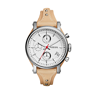 Original Boyfriend Sport Chronograph Vanilla Leather Watch