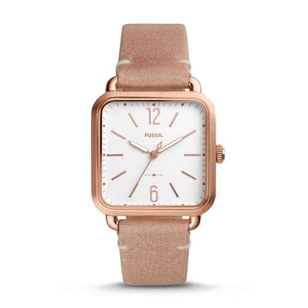 Micah Three Hand Sand Leather Watch Fossil