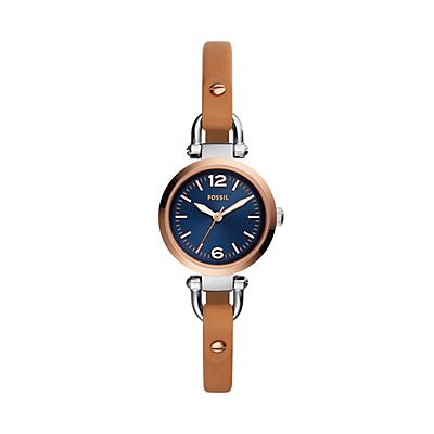Georgia Three-Hand Luggage Leather Watch