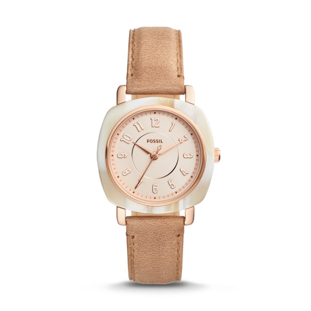Fossil - Idealist Three-Hand Sand Leather Watch - 1