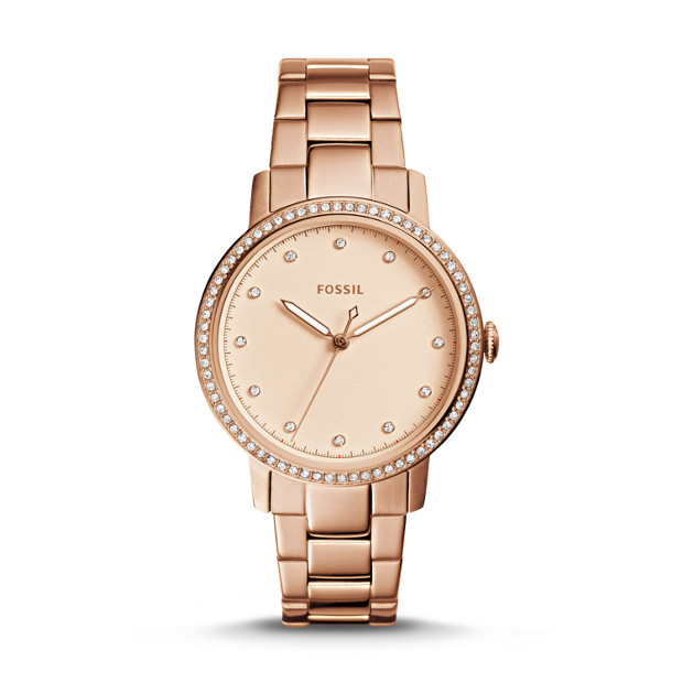 Fossil - Neely Three-Hand Rose-Gold-Tone Stainless Steel Watch - 1