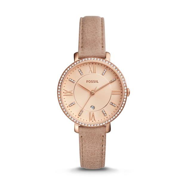 Fossil - Jacqueline Three-Hand Date Sand Leather Watch - 1