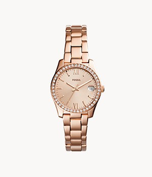 Scarlette Three-Hand Date Rose-Gold-Tone Stainless Steel Watch