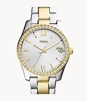 Scarlette Mini Three-Hand Date Two Tone Stainless Steel Watch