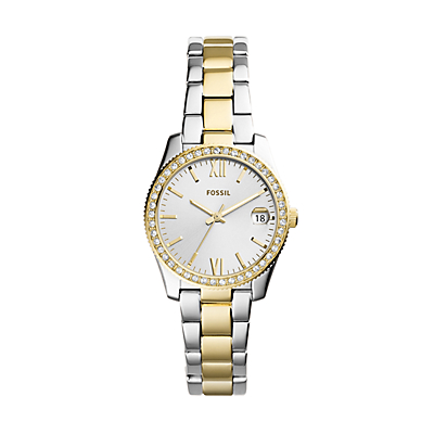 Scarlette Mini Three-Hand Date Two-Tone Stainless Steel Watch