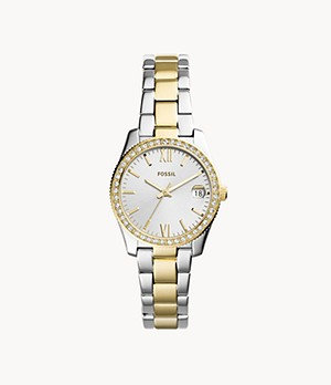 Scarlette Three-Hand Date Two-Tone Stainless Steel Watch