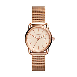 The Commuter Three-Hand Date Rose Gold-Tone Stainless Steel Watch