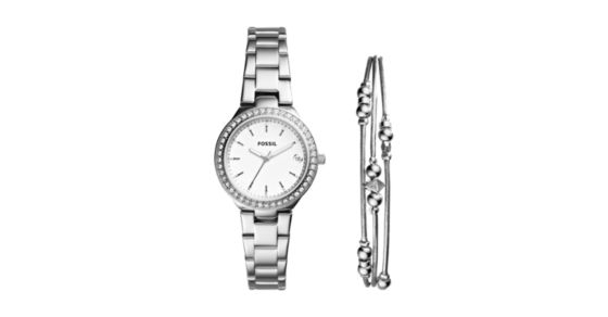 Blane Three-Hand Stainless Steel Watch and Jewelry Gift