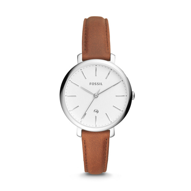 Fossil JACQUELINE ES4368P THREE-HAND DATE BROWN LEATHER WATCH