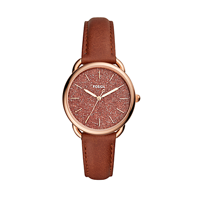 Tailor Three-Hand Terracotta Leather Watch