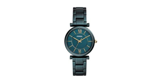 07c4c19fb Carlie Three-Hand Teal Green Stainless Steel Watch - Fossil
