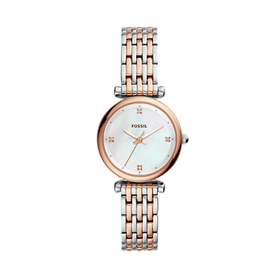 Carlie Three-Hand Two-Tone Stainless Steel Watch