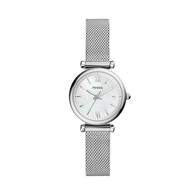 Carlie Three-Hand Stainless Steel Watch