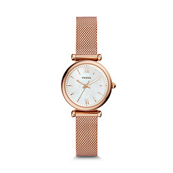 9a81a752a Carlie Mini Three-Hand Rose Gold-Tone Stainless Steel Watch