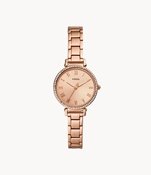 Kinsey Three-Hand Rose-Gold-Tone Stainless Steel Watch