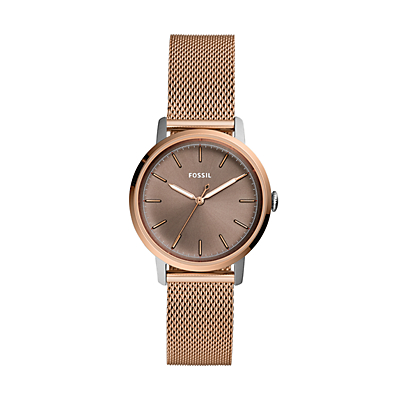 Neely Three-Hand Rose Gold-Tone Stainless Steel Watch