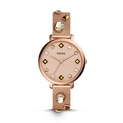 d1a73dadf Jacqueline Three-Hand Date Rose Gold-Tone Stainless Steel Watch