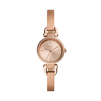 Georgia Mini Three-Hand Rose Gold-Tone Stainless Steel Watch