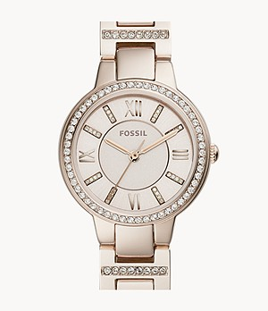 Virginia Three-Hand Pastel Pink Stainless Steel Watch