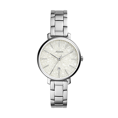 Jacqueline Three-Hand Stainless Steel Watch