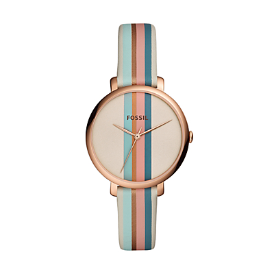Jacqueline Three Hand Multi-Coloured Leather Watch