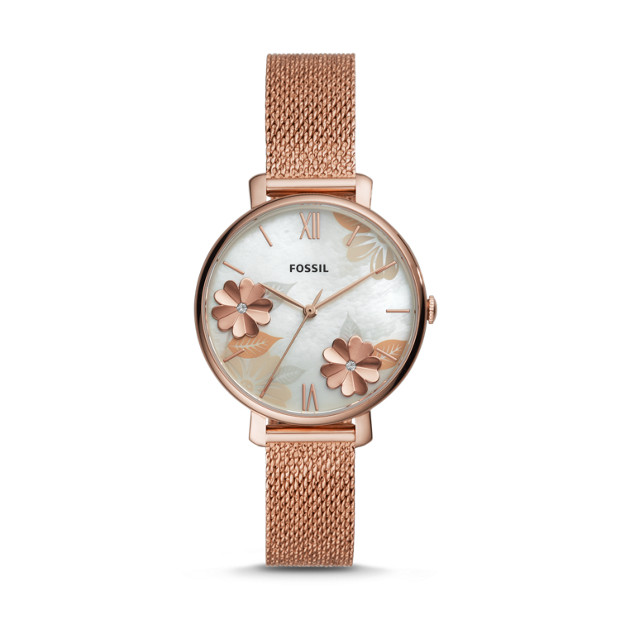 Fossil JACQUELINE ES4534P THREE-HAND ROSE GOLD-TONE STAINLESS STEEL WATCH