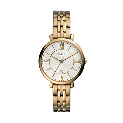 Jaqueline Three-Hand Antique Gold-Tone Stainless Steel Watch