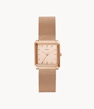 Julienne Three-Hand Rose Gold-Tone Stainless Steel Watch