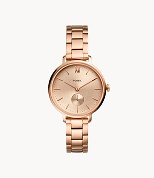 Kayla Three-Hand Rose Gold-Tone Stainless Steel Watch