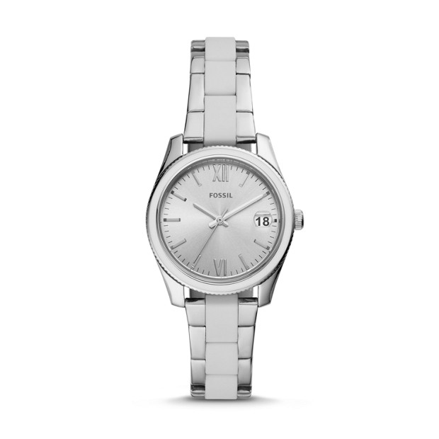 Scarlette Mini Three Hand Date Stainless Steel Watch by Fossil