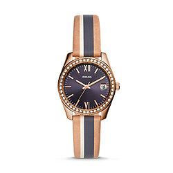 dc5847693 Scarlette Mini Three-Hand Date Striped Sand Leather Watch