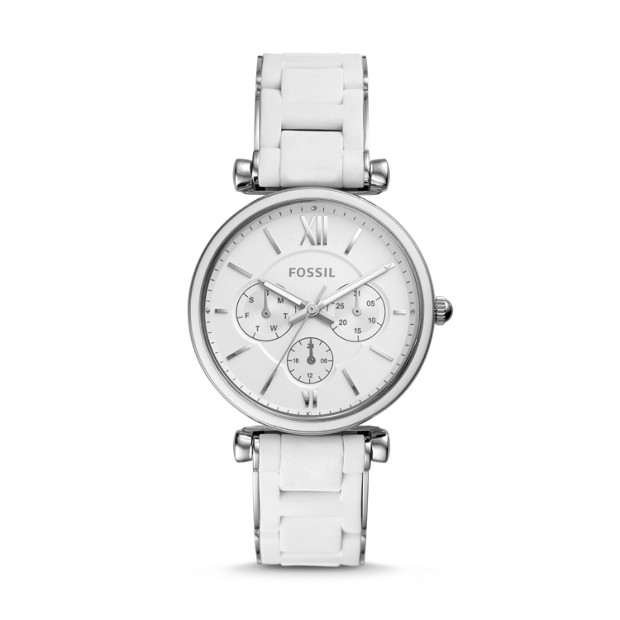 Carlie Multifunction Stainless Steel Watch by Fossil