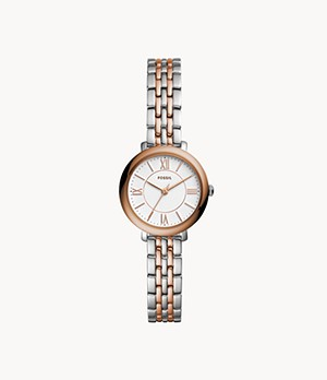 Jacqueline Mini Three-Hand Two-Tone Stainless Steel Watch
