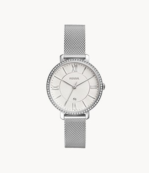 Jacqueline Three-Hand Date Stainless Steel Watch