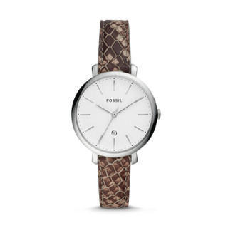 a4e184b0f Jacqueline Three-Hand Date Gray Leather Watch
