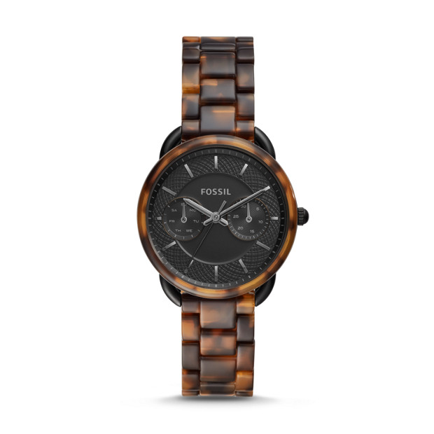 Fossil TAILOR ES4639P MULTIFUNCTION TORTOISE ACETATE WATCH