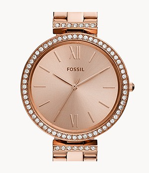 Madeline Three-Hand Rose Gold-Tone Stainless Steel Watch