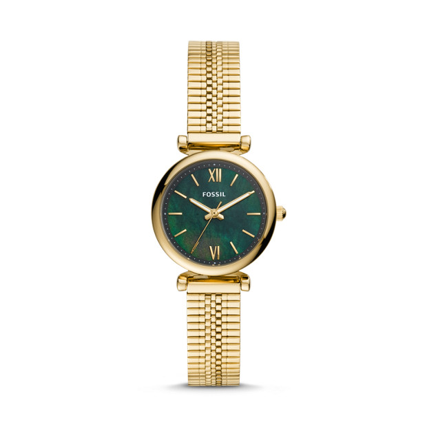 Fossil CARLIE ES4645P MINI THREE-HAND GOLD-TONE STAINLESS STEEL WATCH