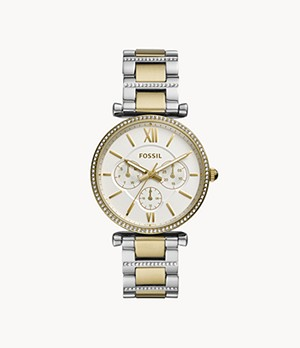Carlie Multi-Function Two-Tone Stainless-Steel Watch